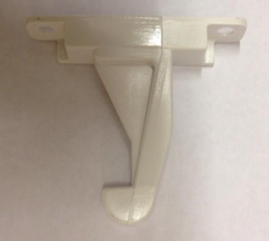 Bosch / Siemens Deurhaak 2 schroefgaatjes voor Wasdroger   witgoedpartsnr: 154074