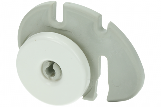 AEG/Electrolux wiel van korf voor vaatwasser linkse uitvoering witgoedpartsnr: 50269761008