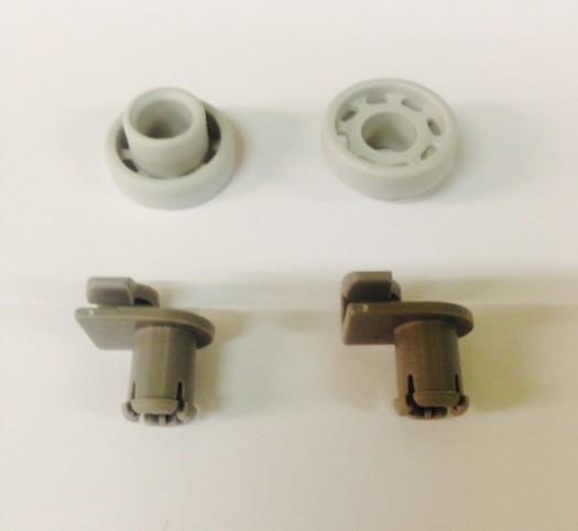 Bosch / Siemens Korfwiel van bovenkorf origineel voor vaatwasser witgoedpartsnr: 424717