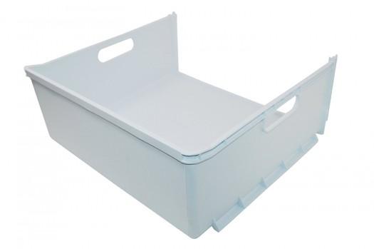 Vrieslade wit zonder frontpaneel Afmeting: 434x166x394mm Wordt ook wel gebruikt in diverse Ariston / Blue air / Indesit wasmachines waaronder de Baan12  SBM1811 Ban13S Inhoud: 1 stuks
