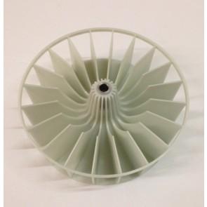 Kunstof waaier Maten:16cm 8mm asgat   Wordt gebruikt in diverse Bosch / Siemens wasdrogers waaronder de WT72000   Inhoud: 1 stuks