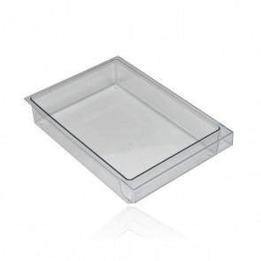 Bosch / Siemens Bak transparant voor koelkast 300x212x58mm witgoedpartsnr: 352558