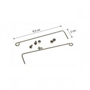 Whirlpool / Bauknecht Veer van trommelklep bovenlader 2 stuks witgoedpartsnr: 481209498005