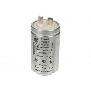 Zanussi / AEG condensator 9uF voor wasdroger witgoedpartsnr: 1250020227