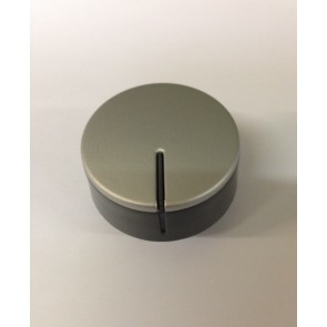 Ariston / Hotpoint zilveren knop witgoedpartsnr: C00292884