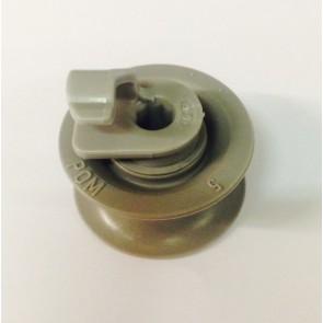 Bosch / Siemens Korfwiel van bovenkorf origineel voor vaatwasser witgoedpartsnr:165313