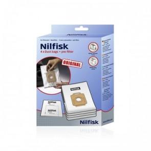 Nilfisk originele stofzakken incl motor filter witgoedpartsnr: 1470286500
