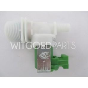 Zanussi Inlaatventiel enkelvoudig recht dun voor wasmachine Witgoedpartsnr: 3792260436
