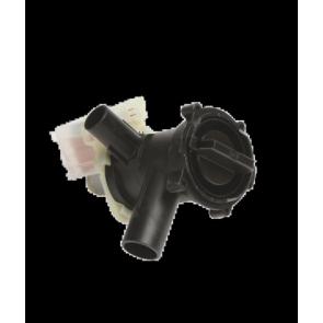 Witgoedparts kenmerk; Afvoerpomp 30Watt Ingang: 31mm Uitgang: 24mm Wordt vaak gebruikt voor de Bosch/Siemens WFH2062 WFH2462 Inhoud: 1 Afvoerpomp